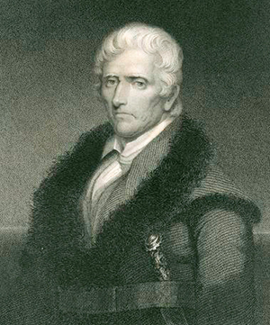 Engraving of Daniel Boone by J. B. Longacre. Image from the New York Public Library Digital GAallery.