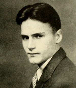 A photograph of Bernard Henry boyd from the 1932 Presbyterian College yearbook. Image from the Internet Archive.