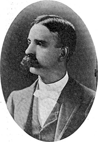 A photograph of Eugene Cunningham Branson published in 1901. Image from Google Books.