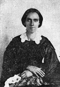 A photograph of Marinda Branson Moore (1829-1864), sister of Levi Branson, and author of A Geographical Reader for Dixie Children and several other works.  Image courtesy the N.C.Government and Heritage Library.