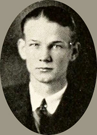 A photograph of Edwin Pierce Brown from the 1924 Guilford College yearbook. Image from University of North Carolina at Chapel Hill.