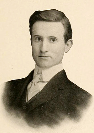 A photograph of Roy Melton Brown from the 1906 University of North Carolina yearbook. Image from the Internet Archive.