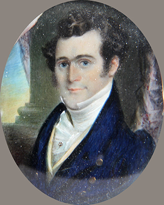 A miniature portrait of James West Bryan by an unknown artist. Image courtesy of Tryon Palace.