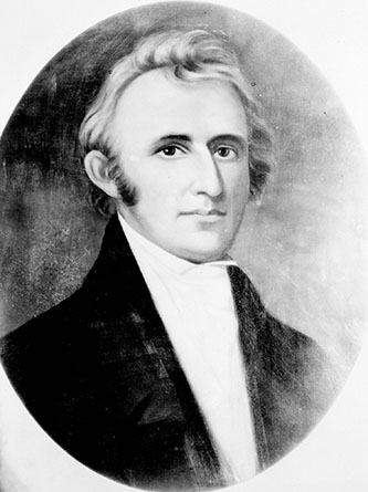 Photograph of a portrait of Hutchins Gordon Burton. Image from the State Archives of North Carolina.