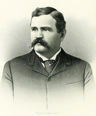 An engraving of Bennehan Cameron published in 1892. Image from Archive.org.