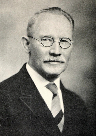 A photograph of James Archibald Campbell published in the 1927 Campbell University yearbook. Image from the Internet Archive.