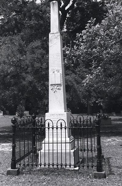 Photograph of the grave of the Rev. James Campbell, near Linden, North Carolina. Image from the North Carolina Highway Historical Marker Program. Used courtesy of the North Carolina Department of Natural and Cultural Resources.