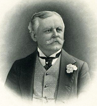Engraving of Julian Shakespeare Carr, circa 1905. Image from the North Carolina Museum of History.