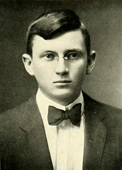 A photograph of Dr. George Lunsford Carrington from the 1913 University of North Carolina yearbook. Image from the Internet Archive.