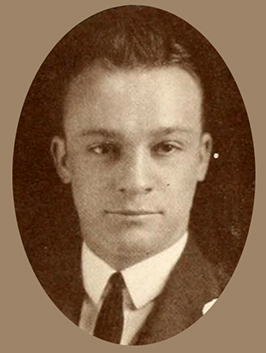 A photograph of Wilbur Joseph Cash from the 1922 Wake Forest College yearbook. Image from the University of North Carolina at Chapel Hill.