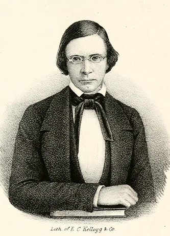 A lithograph of Rev. Robert Hett Chapman published in 1854. Image from the Internet Archive.