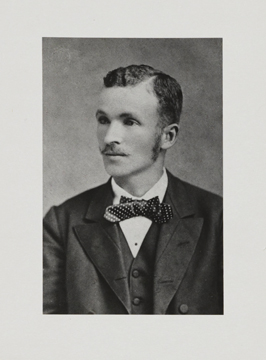 Photograph of Charless Waddell Chesnutt, circa 1883.  From the Photographs of Charles W. Chesnutt at the Cleveland Public Library, Cleveland Public Library Digital Gallery.