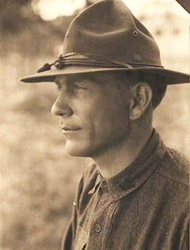 Photograph of R. Gregg Cherry while in military service in World War I, 1917-1918. Image from the North Carolina Museum of History.