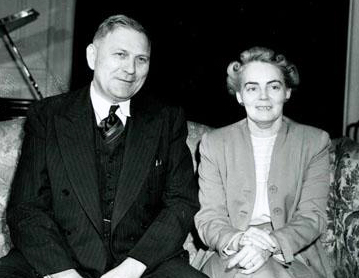 Governor R. Gregg Cherry and his wife, Mildred Stafford Cherry, 1950-1957. Image from the North Carolina Museum of History.