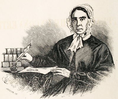 An engraving of Luzene Stanley Chipman published in 1852. Image from the Internet Archive.