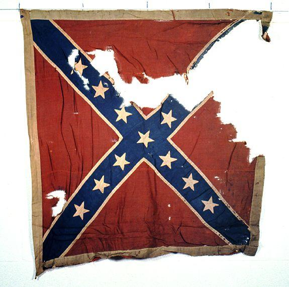 Confederate Battle Flag, associated with the 14th Regiment of NC Volunteers (24th Regiment of NC Troops), commanded by William J. Clarke in July 1861.