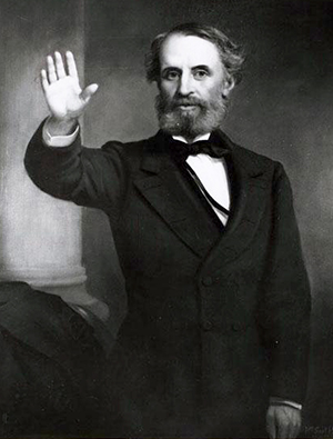 Photograph of a portrait of Thomas Lanier Clingman. Image from the North Carolina Museum of History.