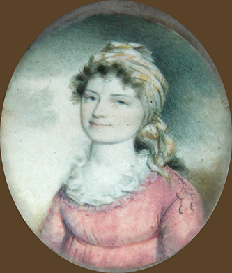 A miniature portrait of George Edmund Badger's mother, Lydia Cogdell Badger. Image courtesy of Tryon Palace.