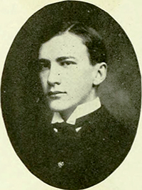 A photograph of Francis Augustus Cox from the 1905 University of North Carolina yearbook. Image from the University of North Carolina at Chapel Hill.