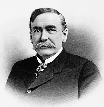 A 1905 engraving of Franklin Coxe. Image from Archive.org.