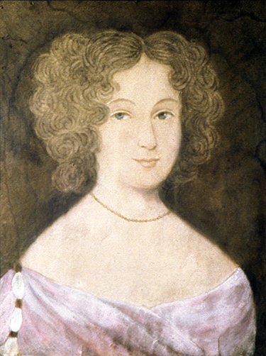Portrait of Frances Culpeper, by an unknown artist, circa 1660. Private collection; photograph courtesy of the Museum of Early Southern Decorative Arts (MESDA) at Old Salem, MRF 6958