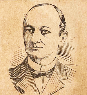 An engraving of state senator Frank Arthur Daniels published circa 1897. Image from the Braswell Memorial Library, Rocky Mount, N.C.