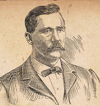An engraving of Elijah Longstreet Daughtridge published circa 1912. Image from the Braswell Memorial Library, Rocky Mount, N.C.