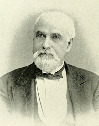 A photograph of Judge Joseph J. Davis published in 1892. Image from the Internet Archive.