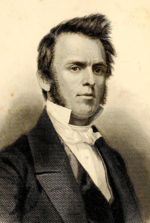 An 1861 engraving of Charles F. Deems. Image from Archive.org.