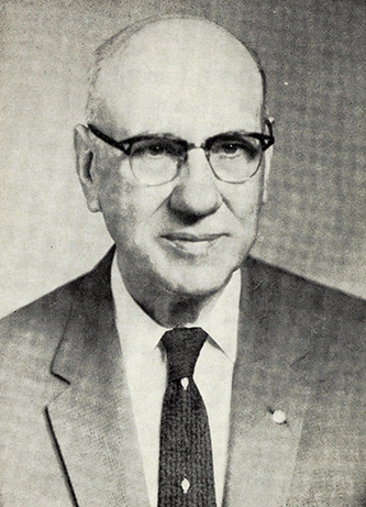A photograph of Emery Byrd Denny published in 1973. Image from the Internet Archive.