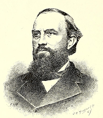 An engraving of James Dinwiddie published in 1890. Image from the Internet Archive.