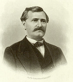 An engraving of Congressman Joseph Dixon. Image from the New York Public Library Digital Collections.