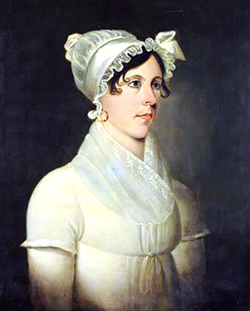 Portrait of Margaret Spaight Donnell, wife of John Robert Donnell, circa 1816-1818 by Jacob Marling. Image from the North Carolina Museum of History.