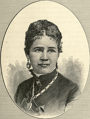An engraving of Eliza P. Donner, daughter of Tamsen Eustis Donner, published in 1880. Image from the Internet Archive.