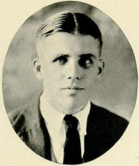 A photograph of James Edward Dowd from the 1920 University of North Carolina yearbook. Image from the Internet Archive.