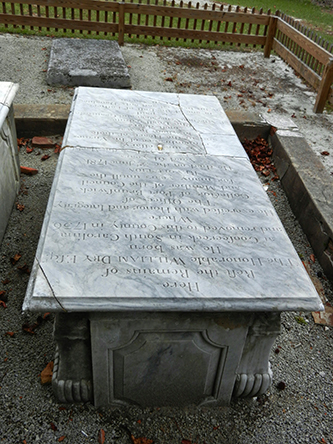 The grave of William Dry, III at St. Philip's church in Brunswick. Image from Flickr user Travis S.