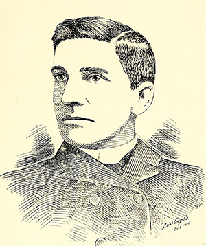 An engraving of Columbus Durham published in 1898. Image from the Internet Archive.