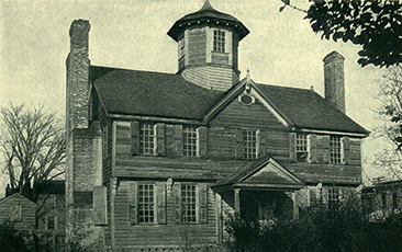 A photo of the Cuploa House published in 1916, and misidentified as Governor Eden's house. Image from the Internet Archive.