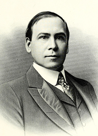 An engraving of Adolphus Hill Eller published in 1917. Image from the Internet Archive / N.C. Goverment & Heritage Library.