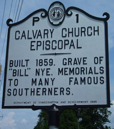 Edmund Noah Joyner was buried in the churchyard at Calvary Church Episcopal in Henderson County. Photo is courtsey from North Carolina Highway Hisctorical Marker Program.