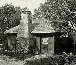 """Where Payne Erskine's Novels Are Written,"" from Sky-Land magazine, 1915. Image from the North Carolina Digital Collections."