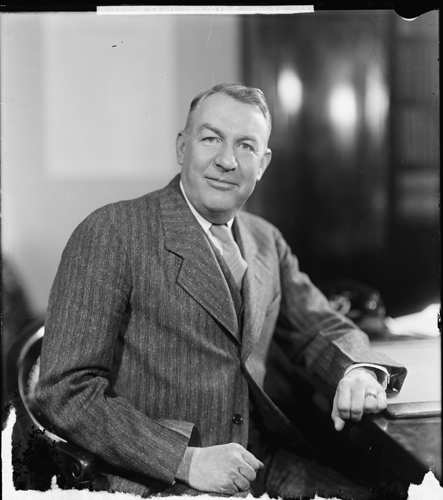 Photographic portrait of the Hon. Sam Ervin, circa 1945.  By Harris & Ewing.  Item LC-H25-320728-G, Harris & Ewing Collection, Library of Congress Prints & Photgraphs Online Catalog.