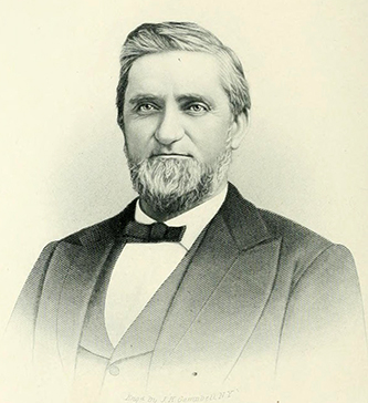 An engraving of William Turner Faircloth published in 1892. Image from the Internet Archive.