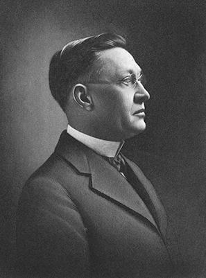 A photograph of Julius Isaac Foust published in 1922. Image from Archive.org.
