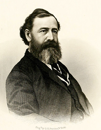 An engraving of John Robert French published in 1871. Image from the Internet Archive.