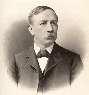 Engraving of Henry Elias Fries, circa 1906. Image from Digital Forsyth/Wake Forest University.