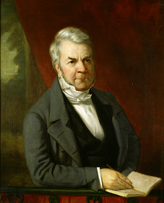 A portrait of Joseph Gales, Junior, by George Peter Alexander Healy, circa 1844. Image from the United States Senate.