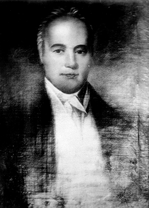 A photograph of a portrait of Joseph Gales Senior. Image courtesy the State Archives of North Carolina.