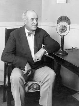 Oliver Maxwell Gardner giving a radio address on WBT radio, 1929-1933. Image from the North Carolina Museum of History.