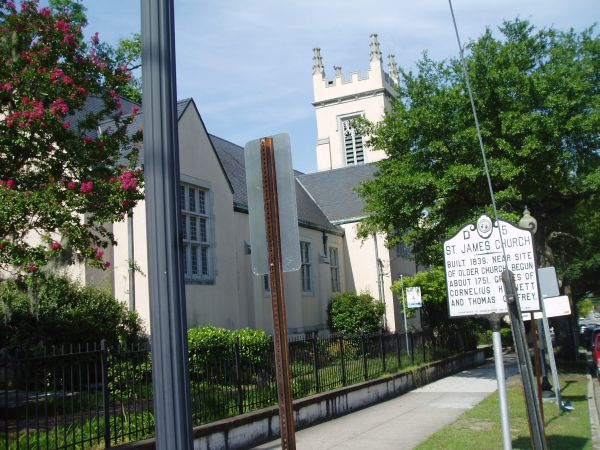 St. James Church in Wilmington, North Carolina. Courtsey from North Carolina Highway Historical Marker Program.
